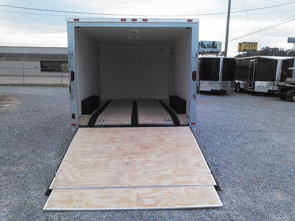 CUSTOM MOTORCYCLE TRAILER BUILT FOR STOKES CHEVROLET IN CLANTON, AL