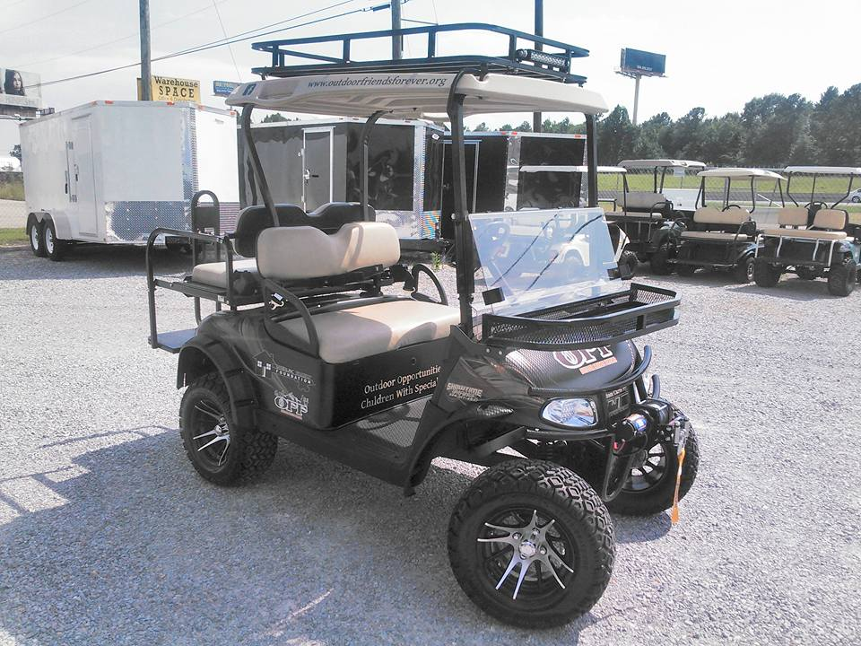PHOTO 46: CUSTOM GOLF CART WITH EXTRAS LIKE WINCH U0026 ROOF RACK
