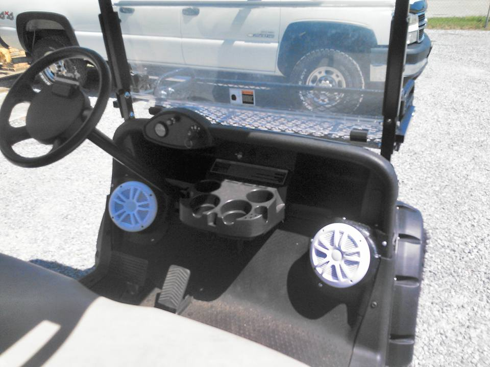 golf cart with speakers