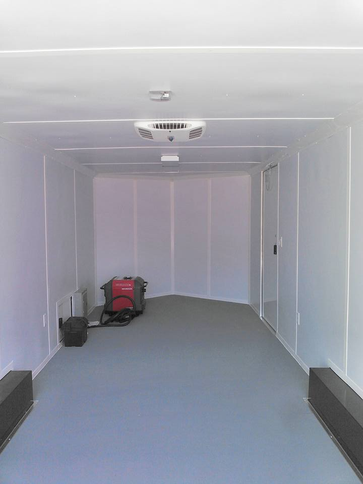 INSIDE OF ENCLOSED TRAILER