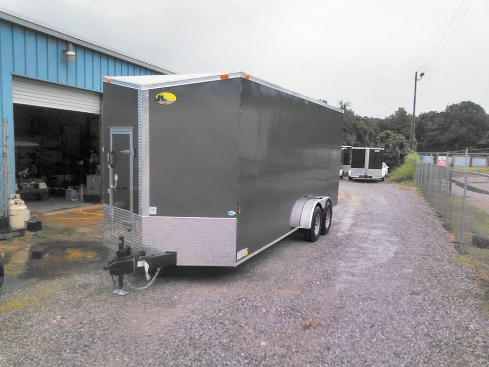 GRAY ENCLOSED TRAILER
