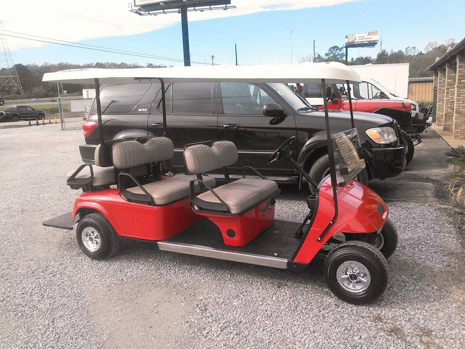 RED 6-SEAT GOLF CART